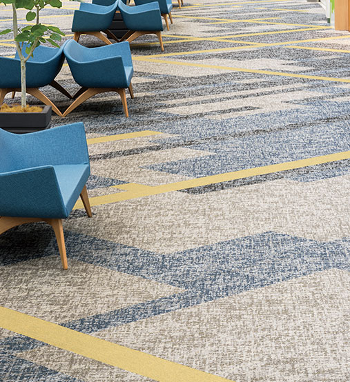 ECOS® series carpet tiles deliver innovative flooring solution with its creative engineering of PVC recycling from postconsumer waste carpet tiles into new ...